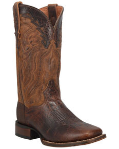 Dan Post Men's Bohannon Western Boots - Wide Square Toe, Brown, hi-res