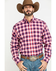 Ariat Men's Caleb Team Multi Plaid Logo Long Sleeve Western Shirt , Multi, hi-res