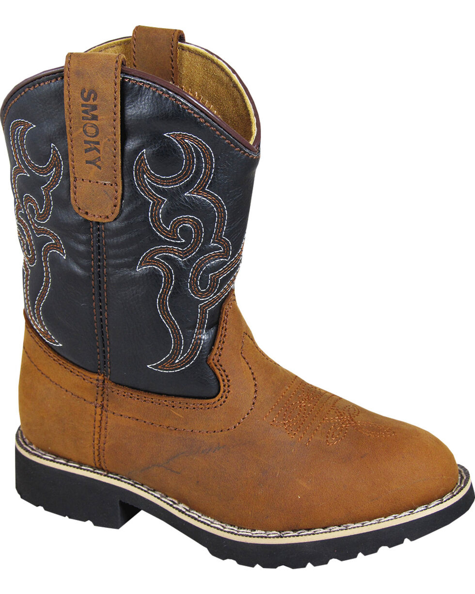 Smoky Mountains Youth Boys' Randy Western Boots - Round Toe , , hi-res