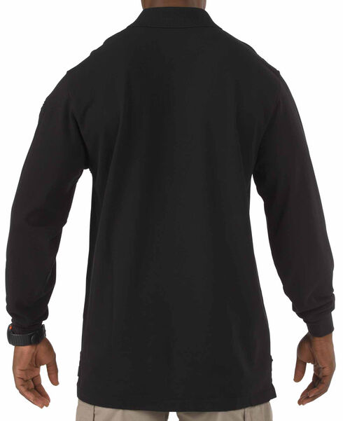 5.11 Tactical Professional Long Sleeve Polo Shirt, Black, hi-res