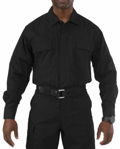 5.11 Tactical Taclite TDU Long Sleeve Shirt - 3XL and 4XL, Black, hi-res
