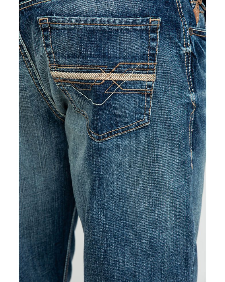 Ariat Men's Lennox Carter Low Stretch Bootcut Jeans , Blue, hi-res