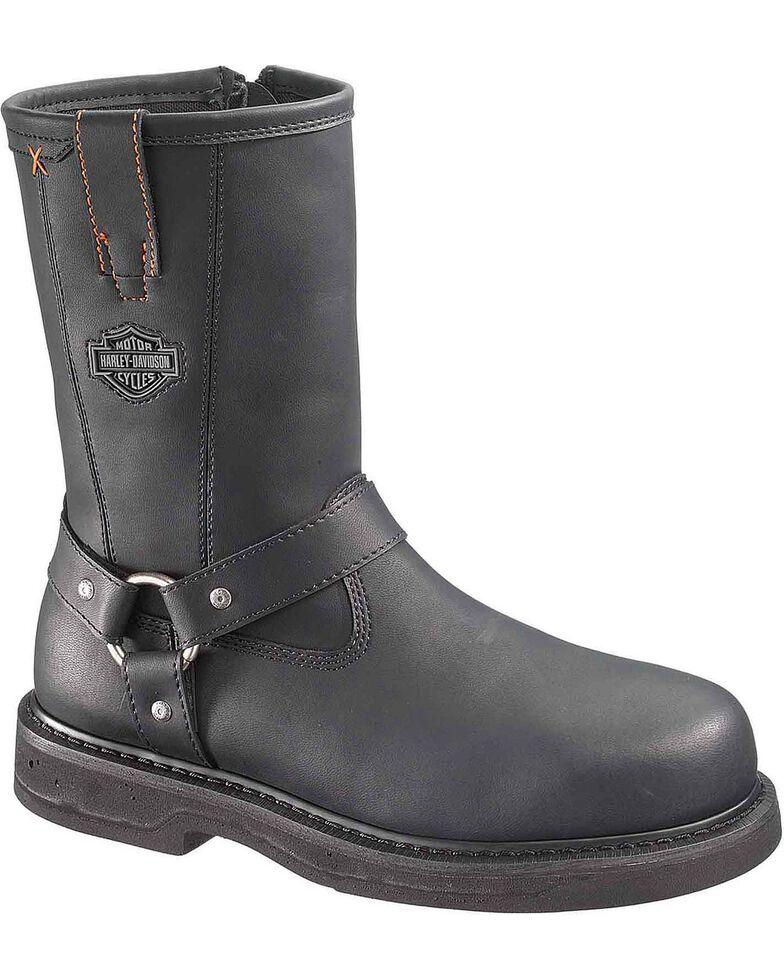 Harley Davidson Men's Bill Harness Boots - Steel Toe, Black, hi-res