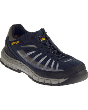 Caterpillar Men's Infrastructure Navy Work Shoes - Steel Toe , Navy, hi-res