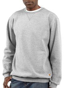 Carhartt Midweight Crew Neck Sweatshirt, Hthr Grey, hi-res