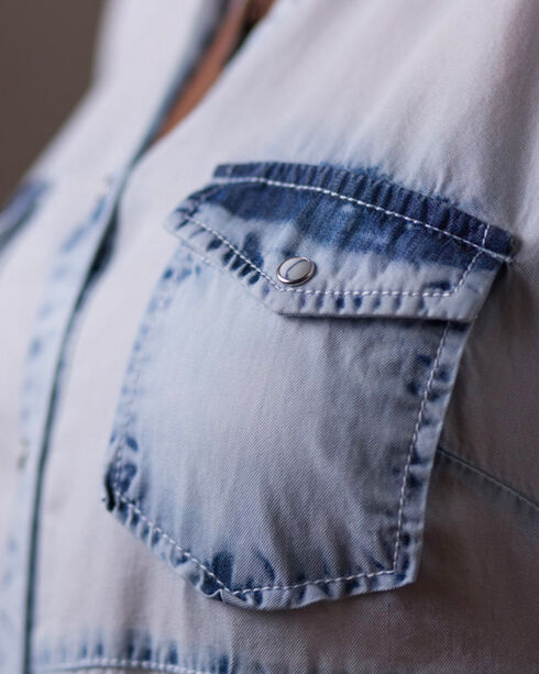 Ryan Michael Women's White Neon Bleached Indigo Swing Dress , White, hi-res