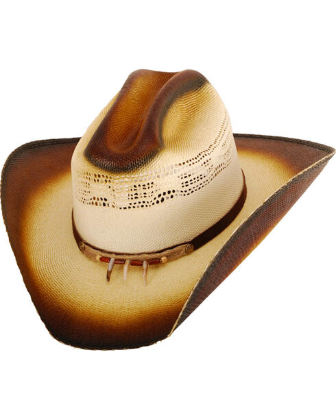 Western Express Men's Gallup Straw Cowboy Hat, Tan, hi-res