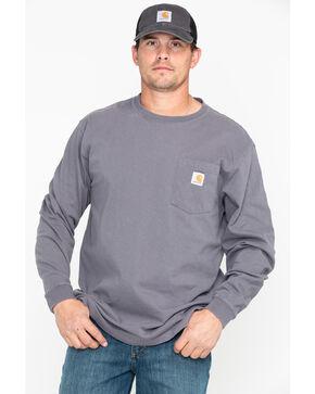 Carhartt Pocket Long Sleeve Work T-Shirt, Medium Grey, hi-res