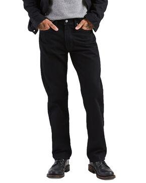 Levis Men's 505 Black Regular Straight Jeans , Black, hi-res