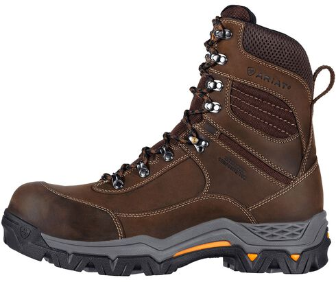 "Ariat WorkHog Trek 8"" Lace-Up Work Boots - Comp Toe, Brown, hi-res"