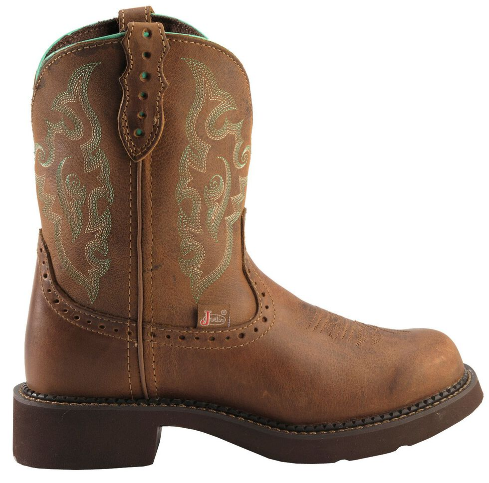 Justin Gypsy Women's Gemma Brown Cowgirl Boots - Round Toe, Tan, hi-res