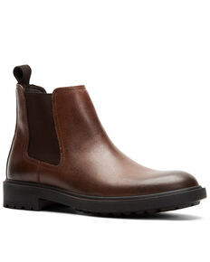 Frye Men's Jackson Chelsea Boots - Round Toe, Dark Brown, hi-res