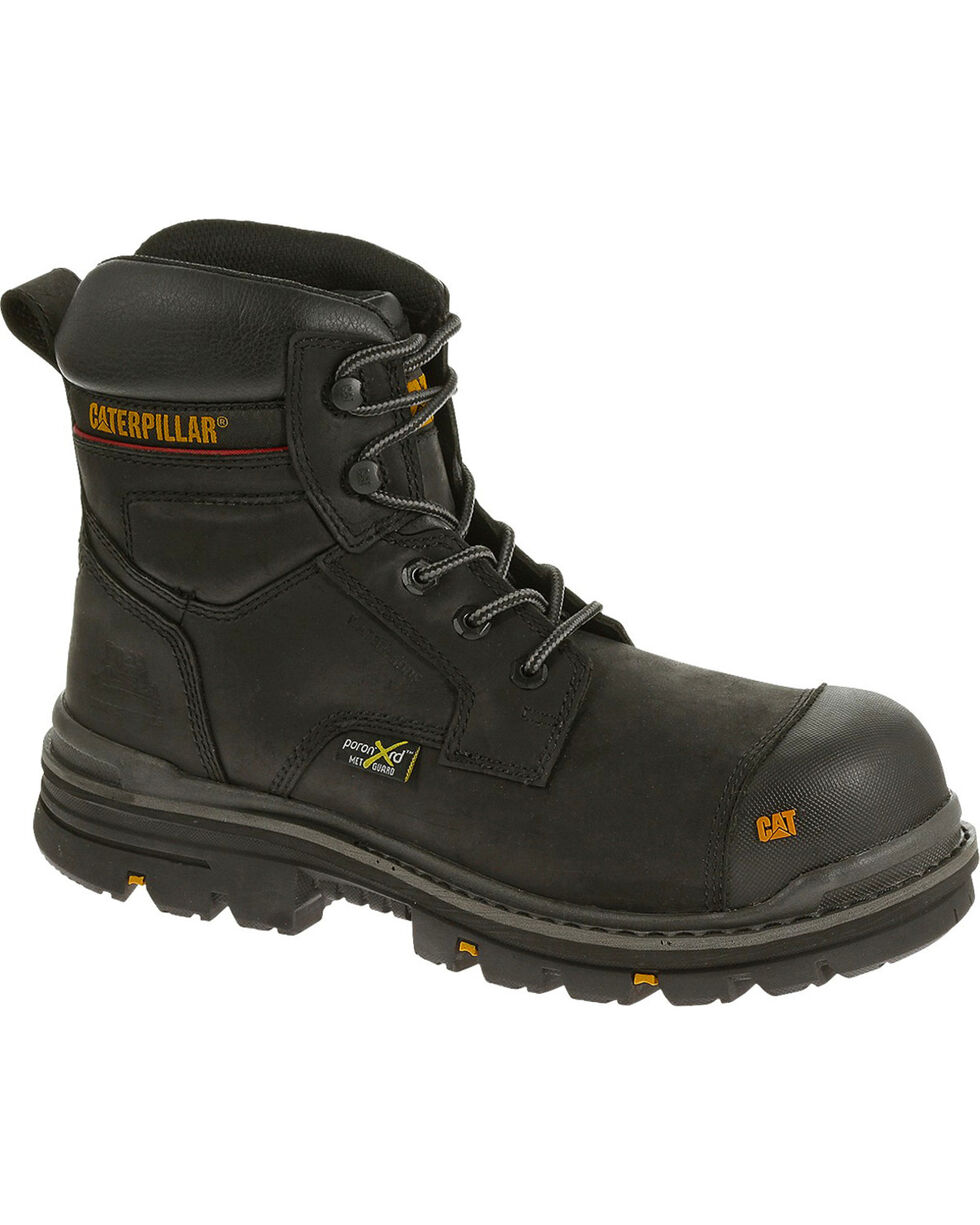 "Caterpillar Men's Brown Rasp 6"" Waterproof Work Boots - Composite Toe , Dark Brown, hi-res"