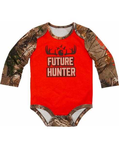 Carhartt Infant Boys' Future Hunter Bodyshirt, Orange, hi-res