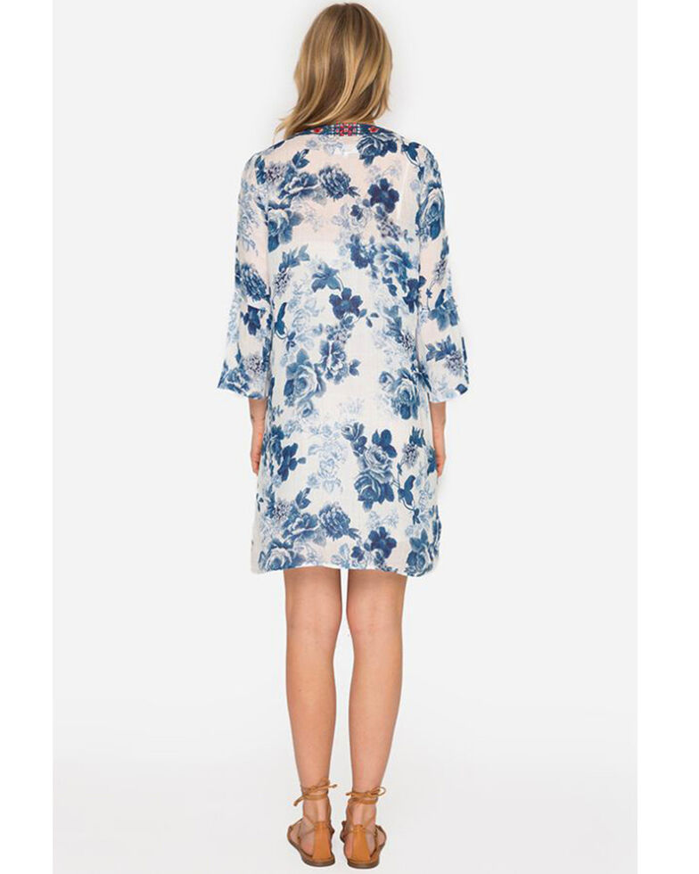Johnny Was Women's Blue Flare Sleeve Tunic Dress - Plus Size , , hi-res