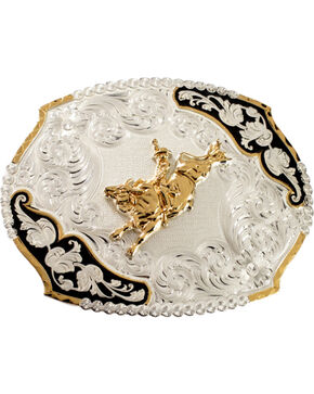 Montana Silversmiths Bucking Bronco Belt Buckle, Silver, hi-res