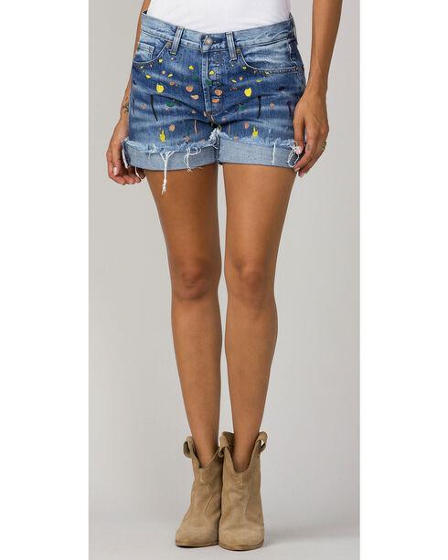MM Vintage Women's Indigo Riley Boyfriend Shorts, Indigo, hi-res