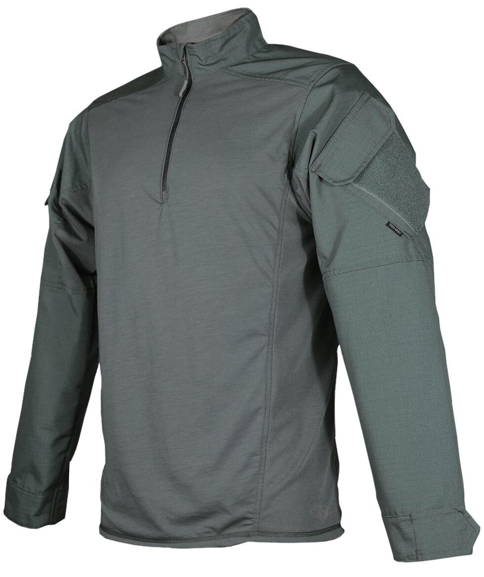Tru-Spec Men's Olive Urban Force TRU 1/4 Zip Combat Shirt , Olive, hi-res