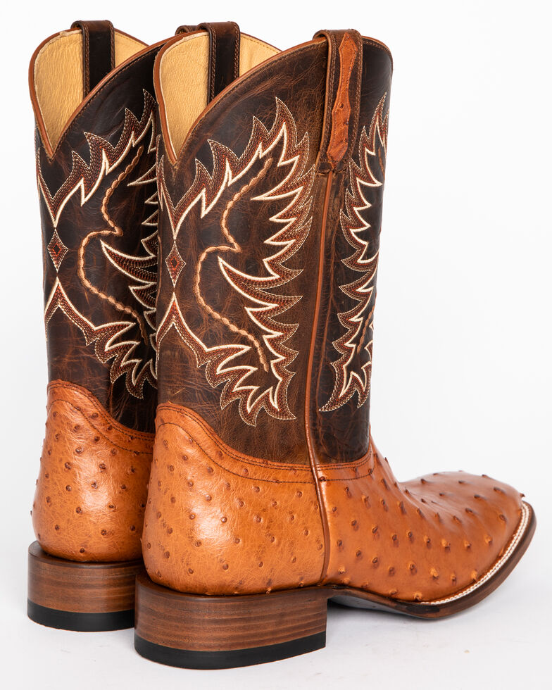 Cody James Men S Full Quill Ostrich Exotic Boots Square