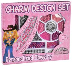 Kids' Charm Design Personalized Jewelry Set, Pink, hi-res