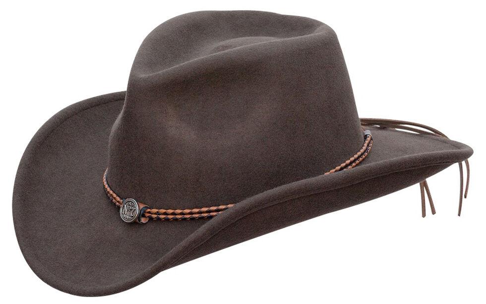 Jack Daniel s Twisted Leather Bend-A-Brim Wool Felt Crushable Cowboy ... 21ab392dde1