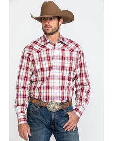 Roper Men's Red Amarillo Vintage Plaid Long Sleeve Western Shirt , Red, hi-res