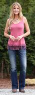 Wrangler Women's Sleeveless Top with Crochet Hem, Pink, hi-res