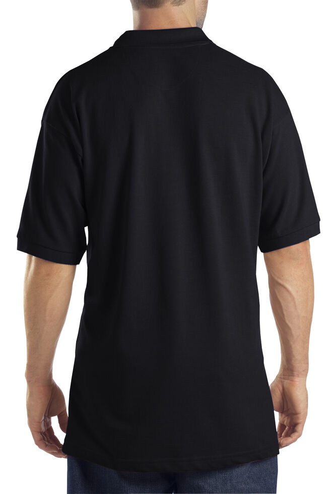 Dickies Pique Polo Work Shirt, Black, hi-res