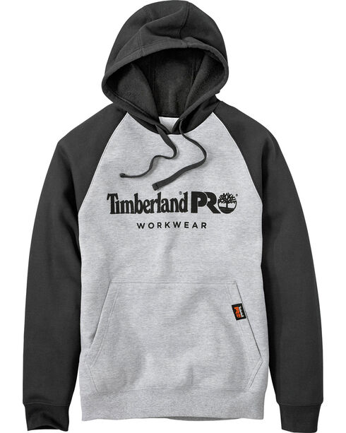 Timberland PRO Men's Hood Honcho Raglan Hoodie, Heather Grey, hi-res