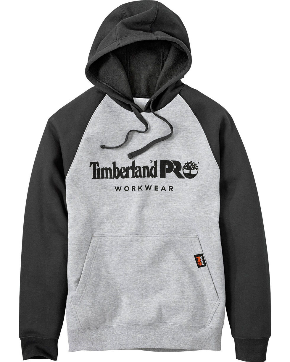 Timberland PRO Men's Hood Honcho Raglan Hoodie, Heather Grey, hi-res