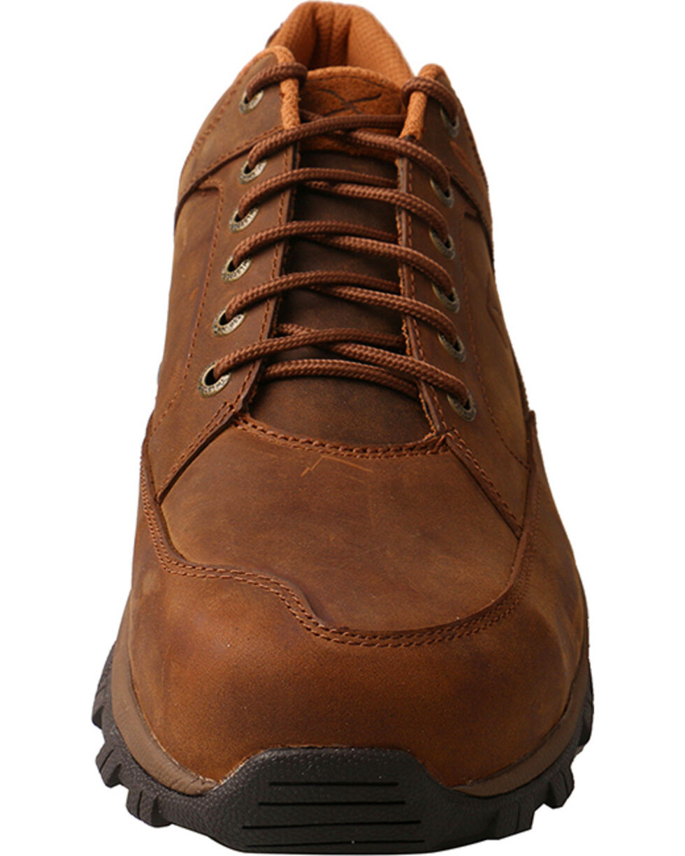 Twisted X Men's Brown Saddle Hiker Work Shoes - Steel Toe , Brown, hi-res