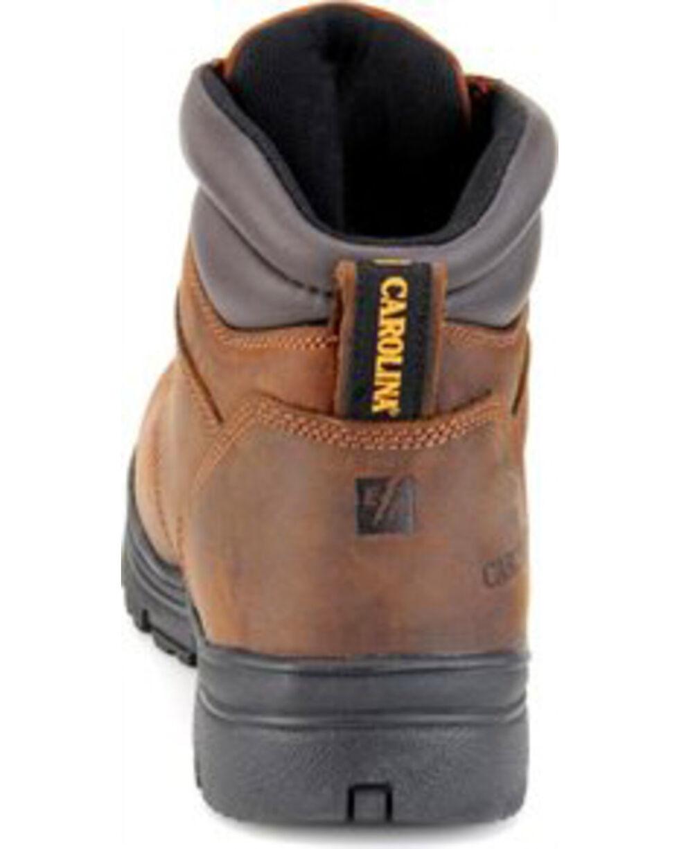 """Carolina Men's 6"""" Brown Engineer Waterproof Work Boots - Steel Toe, Brown, hi-res"""