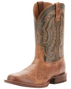 21142aa189381 Ariat Mens Circuit Competitor Rifle Green Cowboy Boots - Round Toe
