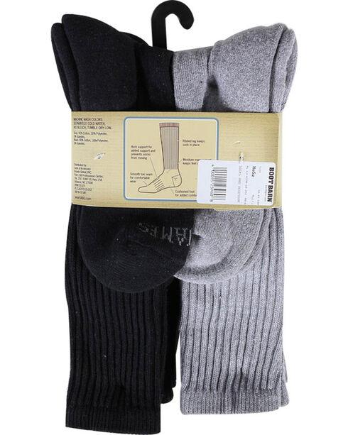Cody James Men's Cushioned 6 Pair Boot Socks Pack, Multi, hi-res