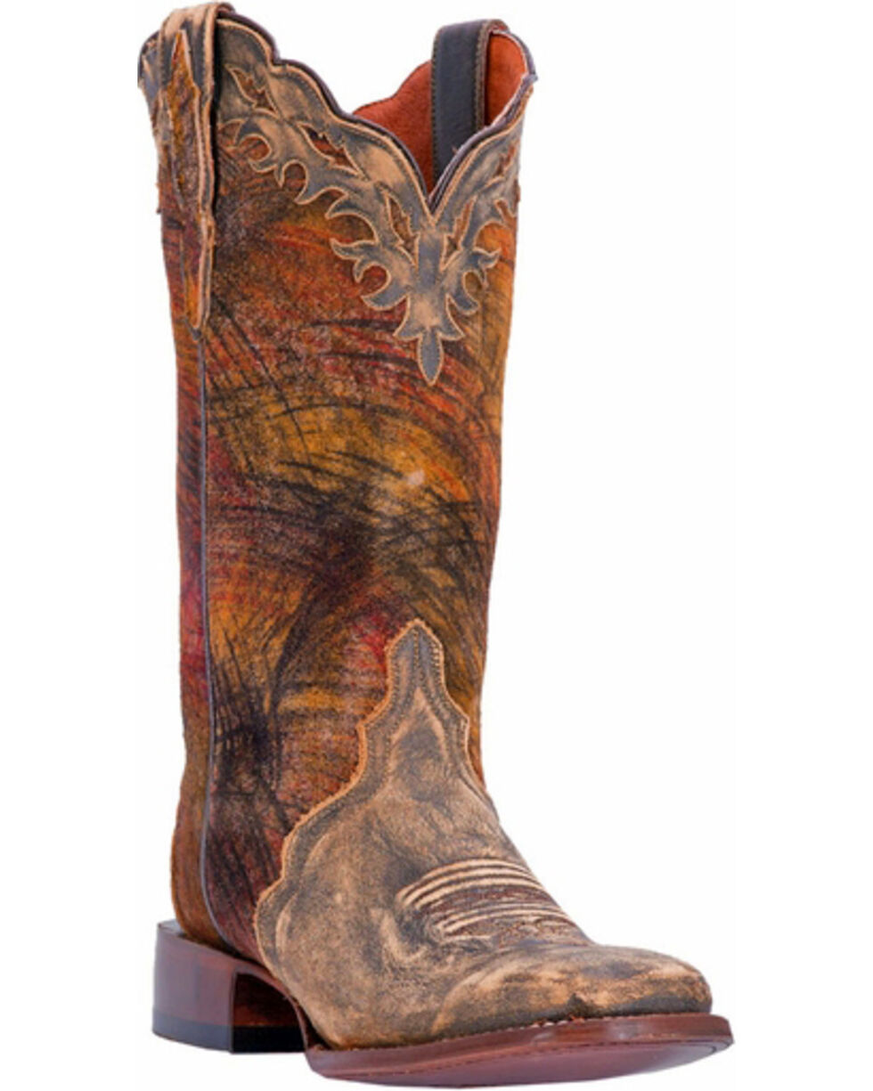 Dan Post Women's Tan Margie Western Boots - Square Toe, Tan, hi-res