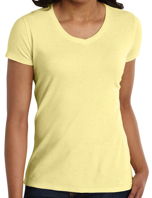 Carhartt Women's Calumet V-Neck T-Shirt, Yellow, hi-res