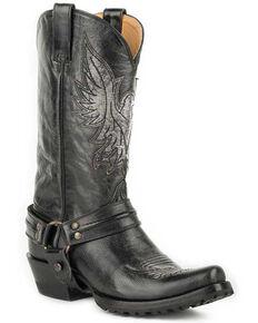 Roper Men's Dado Western Boots - Snip Toe, Black, hi-res