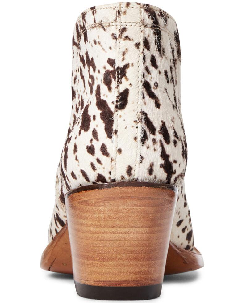 Ariat Women's Dixon Hair-On Cow Print Fashion Booties - Snip Toe, Multi, hi-res