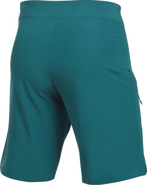 Under Armour Men's Light Grey Solid Board Shorts, Teal, hi-res