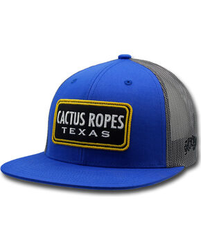 Hooey Men's Blue Cactus Ropes Trucker Cap , Blue, hi-res