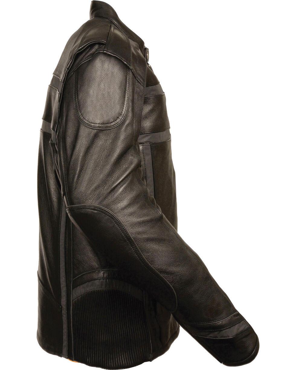 Milwaukee Leather Men's Black Reflective Band Scooter Jacket - Big 4X, Black, hi-res