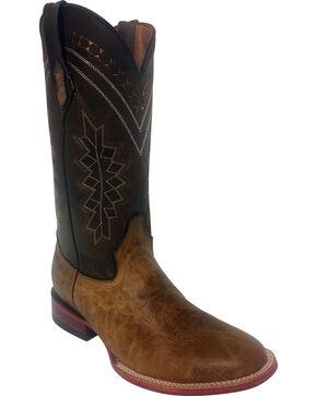Ferrini Men's Light Brown Kangaroo Cowboy Boots - Round Toe, Lt Brown, hi-res