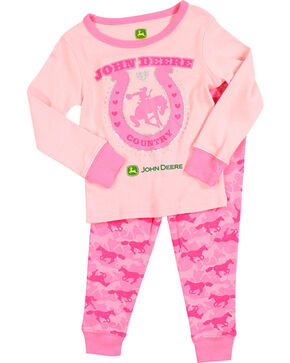 John Deere Toddler Girls' Pink Country PJ Set , Pink, hi-res