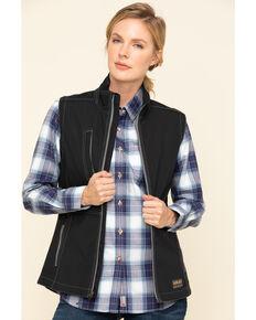 Ariat Women's Black Rebar Stretch Canvas Softshell Vest, , hi-res