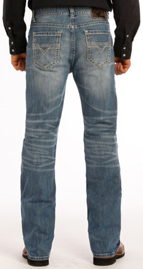 Rock and Roll Cowboy Double Barrel Flex Jeans - Straight Leg , Indigo, hi-res