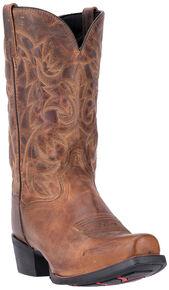 Laredo Men's Bryce Cowboy Western Boots - Square Toe , Distressed, hi-res