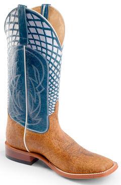 Horse Power Men's Blue Volcano Western Boots - Square Toe, Blue, hi-res