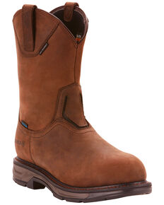 Ariat Men's Brown Workhog XT Wellington H20 Boots - Carbon Toe , Brown, hi-res