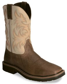 Justin Men's Stampede Driller Copper Work Boots - Soft Toe, Copper, hi-res