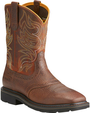 Ariat Sierra Men's Shadowland Mesa Work Boots - Steel Toe, Brown, hi-res